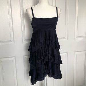 Dresses & Skirts - Navy Empire waist pleated tiered dress